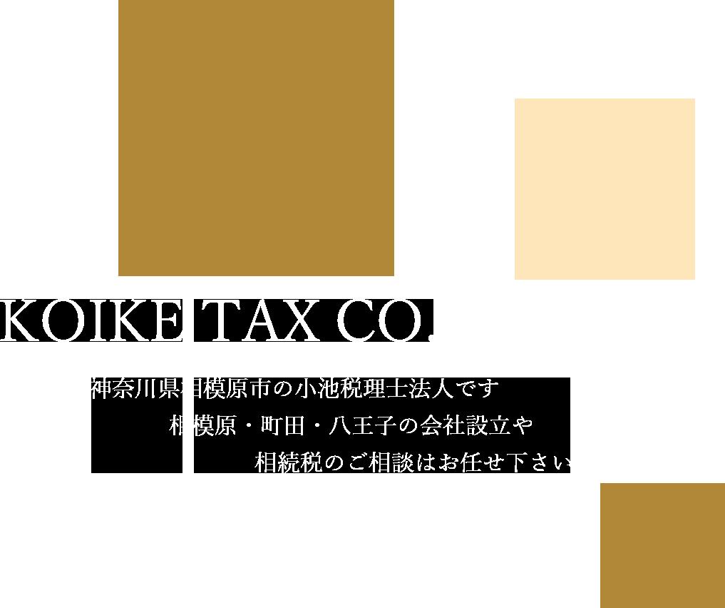 神奈川県相模原市の小池税理士法人です。相模原・町田・八王子の会社設立や相続税対策はお任せ下さい。